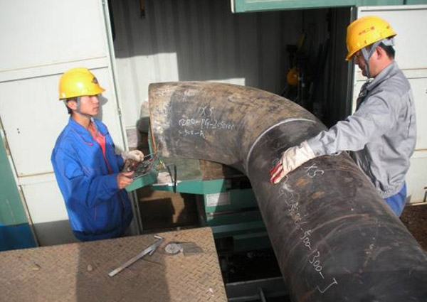 Mechanical Piping Fitting Up Workstation Qspt Pipe Elbow